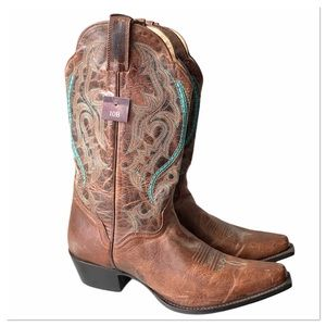 NWT J.B. Dillon Real Leather Cowgirl Boots JBW2318